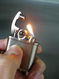 (3)離すと着火